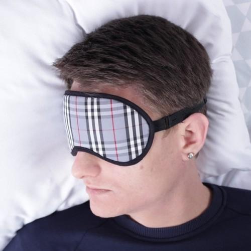 повязка в клетку для сна