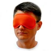 Маска для сна оранжевая 1