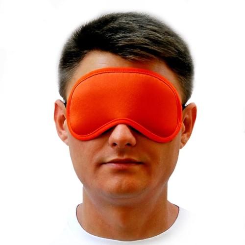 Маска для сна оранжевая