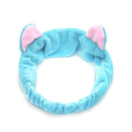 повязка с ушками синяя